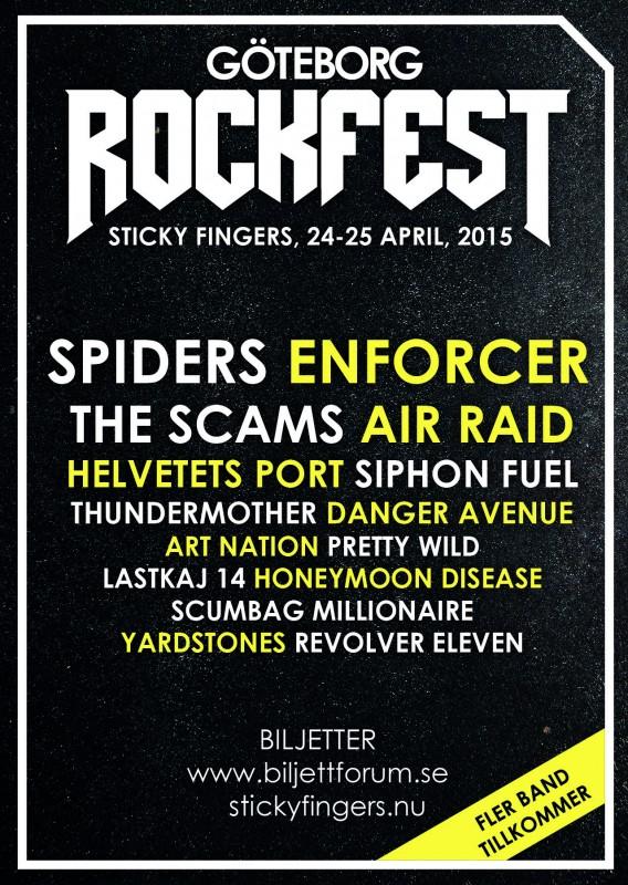Göteborg Rockfest släpper 7 nya band